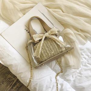 Trendy Moda Kadın Tole El Çantaları Popüler Boş Büyük Kapasiteli El Örgü Küçük Messenger Şeffaf Çantalar HLJ-46