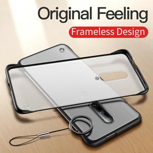 Безрамное Borderless Жесткий чехол ПК телефон для OnePlus 6 6T 7T 7 Pro Ультра-тонкий анти царапин Mobile Back Matte Cover Funda Coque