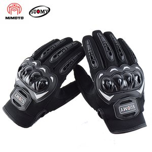 Wholesale Suomy New Brand Motorcycle Motorbike Gloves Summer Full Finger Chopper Guantes Shockproof Hard Kuckle Protector Gear
