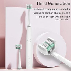 Creative U-shaped Powerful Electric Toothbrush Adult Rechargeable Comfortable Soft Fur Wraps All Around Clean Whitening ToothRab