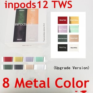 Metal inPods 12 Macaron Bluetooth Earbuds Pop-up TWS Stereo Mini Wireless Earphone inpods i12 Updated version With Microphone