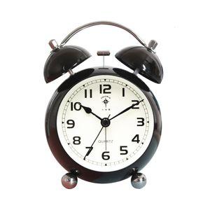 Nordic Creative Silent Circular Needle Simple Wake Up Bedroom Bedsidetable Alarm Clock Kids Watch Mechanism 6nz030