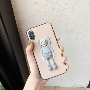 IPhone Case Designer Stereo Doll IPhone11pro Max Mobile Phone Case Suitable for 11Pro 7 8plus XR XS Anti-fall Couple Cases 6 Colors