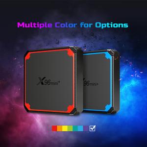 Newest X96 mini plus Android 9.0 TV BOX amlogic S905W4 Quad-core 1GB 8GB 2GB 16GB Support Dual WIFI smart box yxt