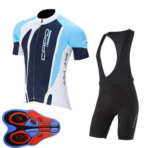Summer Men Capo Team Cycling Jersey Set Breathable Quick Dry Short Sleeve Road Bike Clothing Mtb Bicycle Sports Uniform Y102503