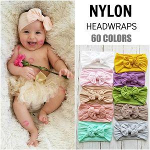 New style hot-selling bohemian children hairband baby nylon silk hairband fashion bow-knot wide headband free shipping