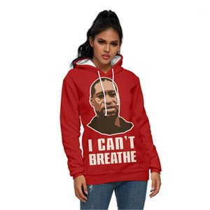 Male Hip Hop Loose Long Sleeve Hoodies I Cant Breathe Man Hoodies Fashion Trend 3D Digital Printing Casual Hooded Sweater Designer Winter