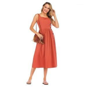 Vestidos casuais verão boho elegante escritório vintage senhora viajar praia mulheres algodão linho de linho sem strapless fêmea retro confortável vestido1