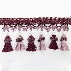 1 m Tasche Quaste Vorhang Fransing Decorative Vorhangzusammenhänger Fransen Vorhang Zubehör Spitzenbesatz 1 m Bag H Jllawh