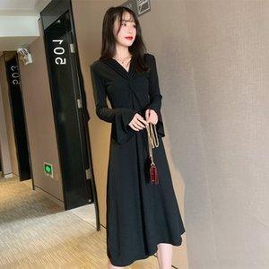 6kkbW 2020 nouveau style haute soeur impériale de qun V-Neck zhang Xiu Xiu Qun zhang robe de froid à manches longues jupe cintrée et d talonnage