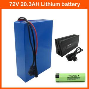 2500W 72V 20AH Elektrische Fahrrad-Akku-Paket 72V 20.3Ah-Motorrad-Li-Ion Akku NCR18650PF-Zelle 40A BMS 2A Ladegerät Kostenlose Zollgebühr