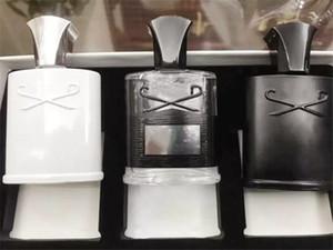 جديد أزياء الرجال العطر مجموعة 3 قطعة / المجموعة مكثفة رائحة فرط الفضة الجبل / aventus / الأخضر الأيرلندية 30ml * 3 شحن مجاني