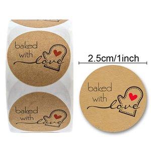 El Fırında Gıda Ekmek Pasta Paketi Dekor Aşk Sticker El yapımı ev yapımı ekmek Yapışkan Etiket ile Baked yapılan