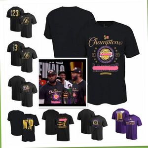 2020 لوس انجليسلوس انجليس ليكرزالرجال النساء الشباب 2020 نهائيات أبطال غرفة خلع الملابس لكرة السلة T قميص أسود من Goodbest_jersey