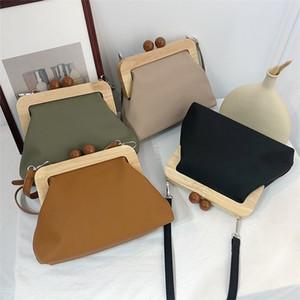 DAUNAVIA Women Handbags Simple Retro Pu Soft Clip Female Shoulder Messenger Bag Evening Clutch Purse Leather Q1105