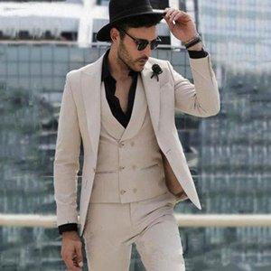 New Arrival Groomsmen Peak Lapel Groom Tuxedos Champagne Men Suits Wedding Prom Dinner Best Man Blazer ( Jacket+Pants+Tie+Vest )