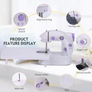 آلة الخياطة الكهربائية الصغيرة واحدة إبرة البسيطة الرئيسية البسيطة ماكينة الخياطة المحمولة المحمولة التلقائي ABS