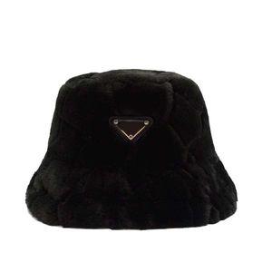 Caliente del invierno del sombrero del cubo casquillo de la manera Tacaño del borde de los sombreros respirable ocasional cupo el bordado Gorra Beanie 4 color altamente Calidad