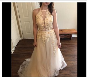 Halter Prom Dresses Long 2021 Bridesmaid Dresses Appliques Backless High Neck FormalEvening Dresses African Girl Formal Party Gown
