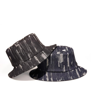 Новая мода старинные женщины синие черные отверстия джинсовые ковты шляпы мужские веки Casquette Panama наружные рыболовные колпачки ZZ-458