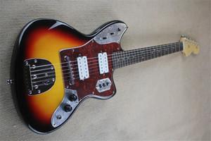 شحن مجاني FEN JAGUAR Guitar، Sunburst Guitar White، 22 FRET، HH Pickups، Basswood Body، Chrome Hradware، Tremolo، Rosewood Fretboard