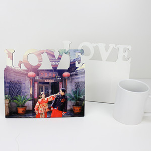 Sublimation Blanks Wood Photos Frame Home Bedroom Ornaments Painting DIY White Frames MDF Rectangle Free Shipping