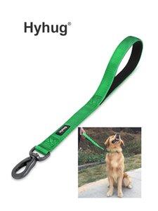 Hyhug Haustiere Kurzer Hundeleine für Pitbull Deutsche Hirte Labrador, Solide Farbe Nylon Heavy Duty Dog Blei für große / große / Hunde LJ201109