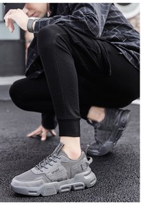 Men New Style High Quality Hard-wearing Breathable Mesh Low-cut Thick Soled Dad Shoes Versatile Comfortable Sneaker