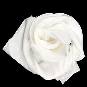 100% Saf Ipek Düz Beyaz 8mm Habotai El Haddelenmiş Lady Uzun Boyama ve Boyama 201224 için Uzun Ipek Eşarp