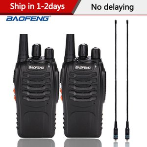 2pcs lot baofeng BF-888S Walkie talkie Two way radio BF 888s UHF 400-470MHz 16CH walkie-talkie Radio Transceiver with Earphones