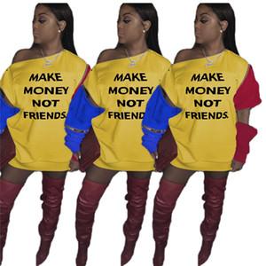Contrast Color Women Dresses Casual Zip Patchwork Long Sleeve Loose Hoodie Dress Women Designer Clothes 2020