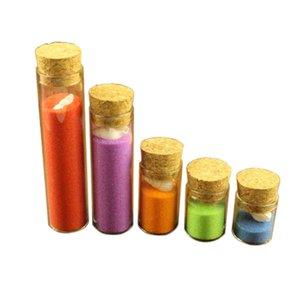 Mini botellas de cristal Corchos de 4 ml 5 ml 6 ml 18ml 22ml 30ml regalo de boda alimentos líquidos tarros de contenedores de arena 24pcs Vial Tiny