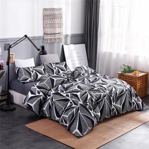 Ev Tekstil Nordic Yorgan Yatak Seti Yatak Örtüsü Baskı Nevresim Kraliçe Kral Yatak Seti Nevresim Yorgan Yastık Kılıfı King Size Duv d4sB #