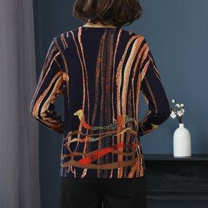 Yisu Donne Fashion Primavera Autunno Autunno Autunno Trucchi Trucchi Maglione Stripe stampato maglia maglia femmina Y200910