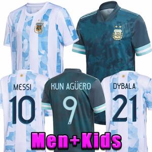 2020 Аргентина футбол Джерси 20 21 Copa прочь футбол рубашка MESSI DYBALA Агуэро LO CELSO МАРТИНЕС TAGLIAFICO Мужчины + Детская комплект униформы