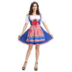 Dames Oktoberfest Beer Girl Costume German Beer Festival Dirndl Robe Sexy Wench Fantaisie Dress1