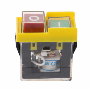AC 250V 6A IP54 Waterproof Electromagnetic Pushbutton Machine Saw Cutter Drill On Off Safety Switch1
