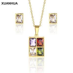 XUANHUA Stainless Steel Jewelry Woman 2020 Necklace Earrings Jewelry Sets Fine Accessories Bohemian