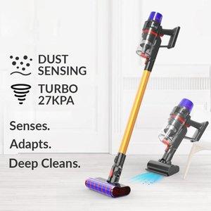 Limpiadores de vacío 27KPA Limpiador inalámbrico portátil Cableable 5 velocidades Velocidad de alta potencia Strong String Piso de inicio Polvo Mite1