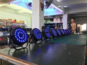 8PCS PAR LED 24x10W RGBW 4in1 Party DJ Mini Plat LED PAR RGBW Thin Par 64 Light
