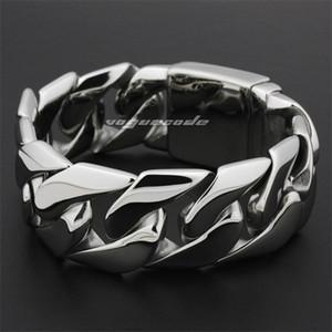 Linsion énorme Bracelet en acier inoxydable 316L Heavy 316L Briker Punk Link Chain 5D002 Livraison Gratuite Y1130