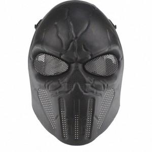 Paintball Taktik Tam Yüz Koruma Kafatası Ordu Açık Paintball Yüz Kolay Aşınma Çevre Dostu Drop Shipping Hih5 # Maskesi
