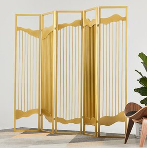 Metal screen scenery screen hotel lobby high end clubhouse guest house entrance partition wall folding and moving