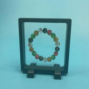 PET élastique à membrane Bijoux Pendentif Porte-Display Stand Box Emballage Protect Case Présentation Floating bijoux