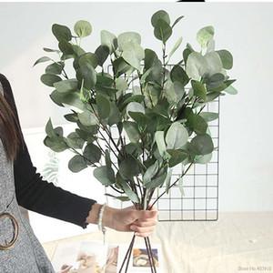 Artificielle herbe verte plante plastique fausses fleurs simulation eucalyptus feuilles bouquet maison jardin magasin de table décor money herbe1