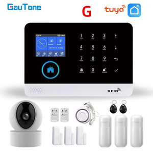 GAUTONE PG103 TUYA GSM نظام إنذار اللاسلكية الأمن المنزل مع WiFi IP كاميرا دخان كاشف الذراع Disarm1