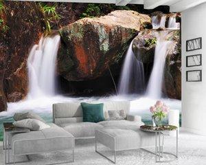 Modern Home 3d Wallpaper 3d Bedroom Wallpaper Clear Waterfall and Flowing Water Romantic Landscape Decorative 3d Wallpaper