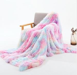 Super Soft Long Faux Fur Coral Fleece Blanket Warm Elegant Cozy With Fluffy Sherpa Throw Blanket Bed Sofa Blankets Gift