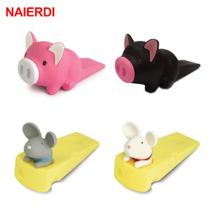 NAIERDI Cartoon Creative Silicone Door Stopper Cute Children Baby Toys Door Stops Holder Safety For Family Furniture Hardware 201013
