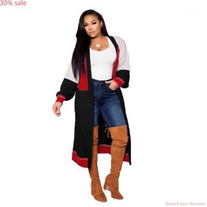 Plus Size Women Coat Long Sleeve Loose Cardigan Designer Coats Long Women Trench Coat Autumn Fashion Ladies Coats 20211